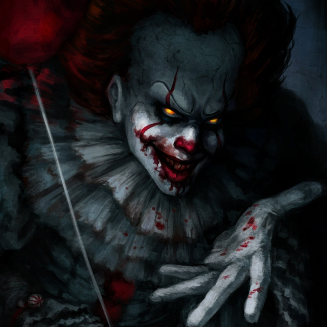 Malevolent clown