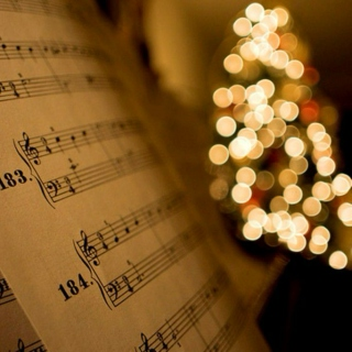 Christmas songs by the fireplace