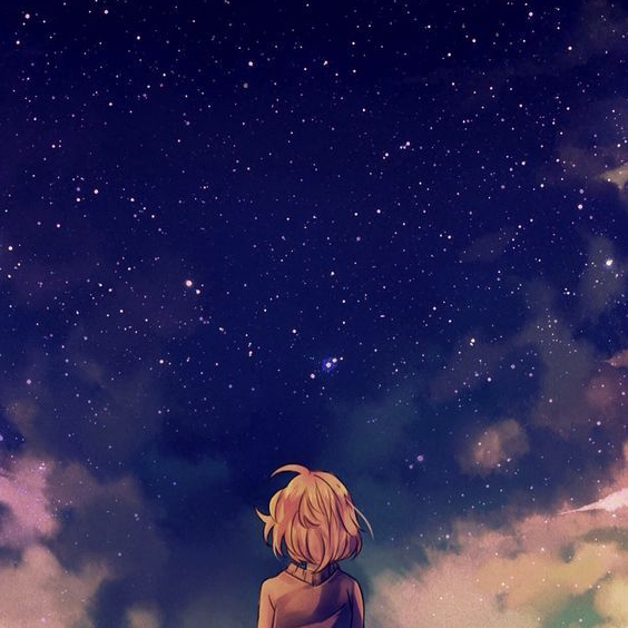 how do you look at the nighsky and feel lonely?