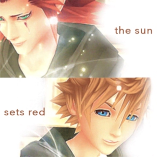the sun sets red