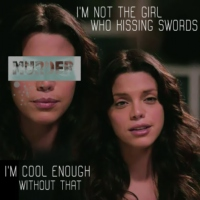 I'm not the girl who kissing swords | I'm cool enough without that