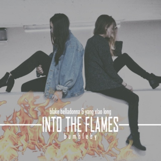 into the flames