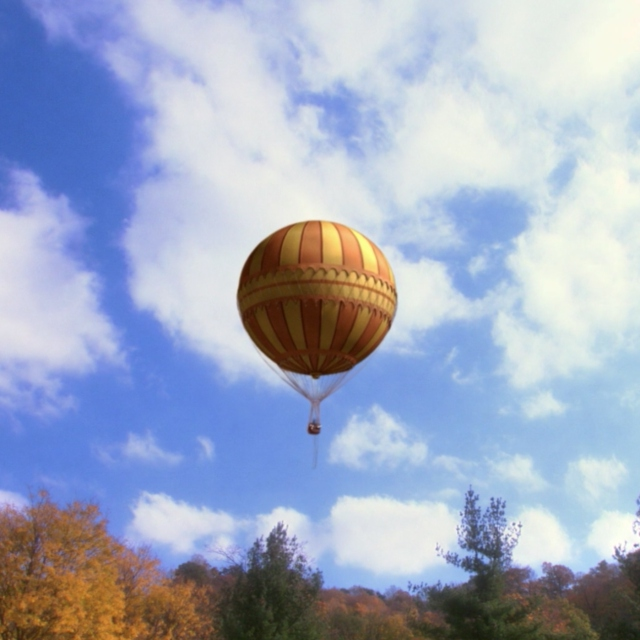 I'd ride off with you in a big balloon