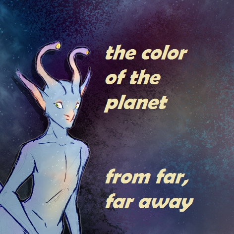 the color of the planet from far, far away //Ax
